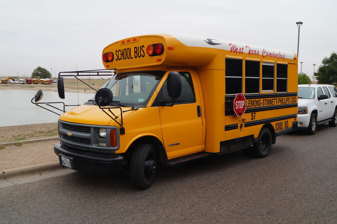 Plemons-Stinnett-Phillips CISD West Texas Activity Bus